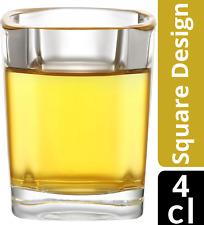 12 Schnapsgläser Eckig Stamper 4cl Schnaps Glas Gläser Pinnchen Vodka