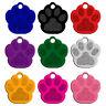 20pcs Bling Paw Dog Tags Disc Disk Aluminum Custom Pet Cat ID Name Collar Tag