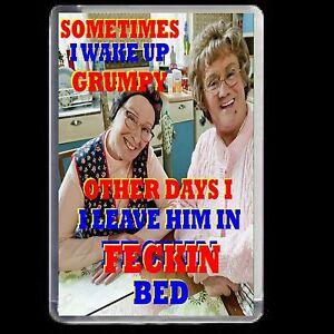 MRS BROWNS BOYS FRIDGE MAGNET ADULT JOKE BED NOVELTY GIFT CHRISTMAS ACRYLIC