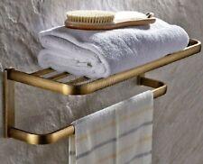 Antique Brass Wall Mounted Bathroom Towel Rack Holders 8ba172