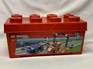 LEGO Juniors Storage Container 10673 Red Plastic Toy Case with Lid