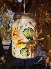 Handpainted Ceramic Birdhouse Sunflower Design
