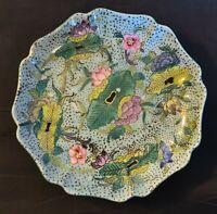 """Japanese Antique Green Floral Elegant 6"""" Plate"""