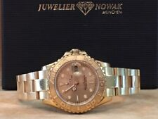 ROLEX YACHTMASTER LADY  VOLLGOLD + Box Papiere