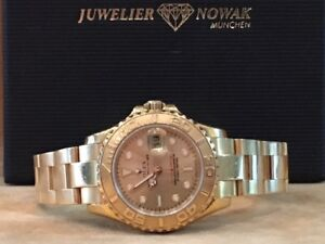 ROLEX YACHTMASTER LADY  VOLLGOLD + Box Papiere TRAUM