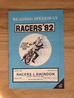 Reading V Swindon Speedway Programme 12/04/82