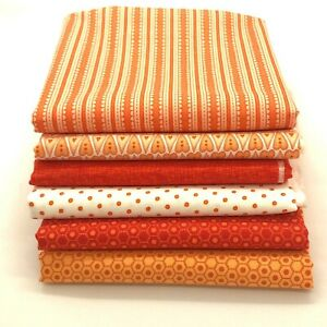 Red Rooster Basically Hugs Cotton Fabric | Orange Collection