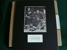 Signed Matted Photo of Hockey  Hall of Famer Red Kelly