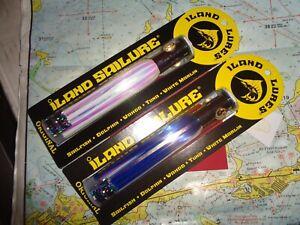"2 ILAND LURES ISLAND SAILURE BLUE/WHITE SA300F-BL/WH FLASHER SERIES 5.5"" 1/2 OZ"