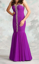 Le Femme gown Size 0 Ladies Purple mermaid Pageant Fitted  Ladies AB stones