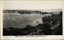 Perth WA Swan River Real Photo Postcard - MURRAY VIEW