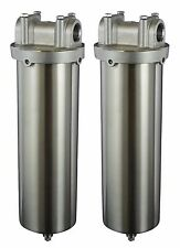 "Stainless Steel Filter Housing for 10""L cartridges, 3/4""NPT, pack of 4"