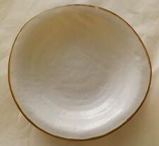 Piatto Fondo in Ceramica creato dipinto Mano Bianco scodella gres porcellana