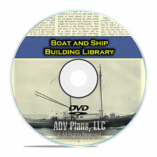 100+ Books on Boat and Ship Building, Make a Wooden Yacht, Fishing Canoe DVD F54