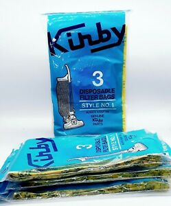Lot 12 Genuine Kirby Style 1 Vacuum Cleaner Bags--3 per Bag (4 bags total)