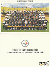 PITTSBURGH STEELERS All Player Photo 2019 Season Ticket Holders Christmas Card
