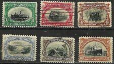 CHERRIES! U.S. 1901 PAN AMERICAN ISSUES 1c to 10c Scott #294-299 WYSIWYG Lot