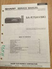 Sharp Service Manual for the SA-R75AV Receiver