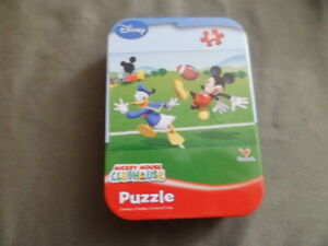 Disney Mickey Mouse Club House Donald Duck 24 Piece Puzzle in Tin New Toy Gift
