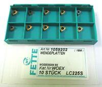 10 Plaquettes pour Perceuse Woex 030204 Sn LC225S de Fette Neuf H27454