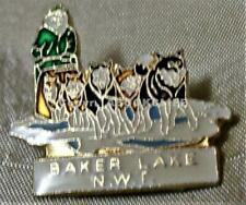 CANADA POST SERVICE MEMBER WITH DOG SLED DAWSON CITY Lapel Pin EXC.