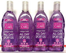 Vital Care MEGA HOLD ALL DAY SPORT Hair Gel Long Lasting Hold & Shine 4 Pack !