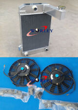 3 ROW ALUMINUM ALLOY RADIATOR TRIUMPH TR2/TR3/TR3A/TR3B Manual + FAN TR2 3 3A 3B