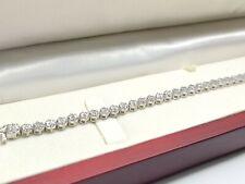 White gold finish with tiny natural diamond illusion bracelet free gift box