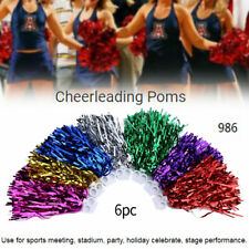 WHOLESALE PRICE PET Decor Cheerleader Cheerleading Dance Pom Poms Pompoms 6pcs