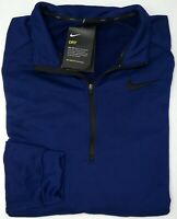 NWT Nike 1/4 Zip Pullover Dri Fit Athletic Mens Size XLT Tall Navy Blue Sweater