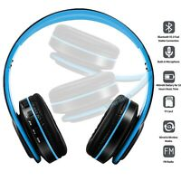 HI-FI Stereo Wireless Bluetooth Headset Foldable Headphones Over Ear With Mic US