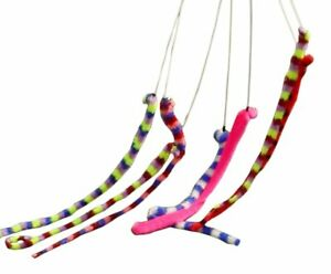1 x LARGE WIGGLY WORM ON A STICK FOR KIDS CATS DOGS PET PLAY FUN