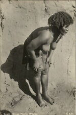 Ethnography South African Native Woman Bare Breasts c1920 Real Photo Postcard