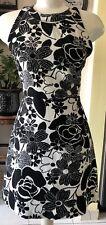 Zara Basic Floral Black Halter Sexy Backstyle Summer Mini Women Dress Sz Medium