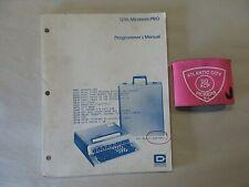 COMPUTER DEVICES 1206 MINITERM PRO PROGRAMMER'S MANUAL