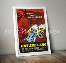 A4 Hot Rod Gang Vintage cartel de la película coche años 50 Rock & Roll Rebel Cartel