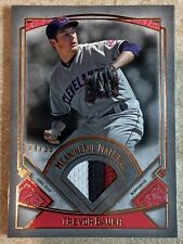 2017 Topps Museum Collection Meaningful Material Trevor Bauer 3 Color Patch /35
