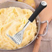 Stainless Steel Non Slip Manual Potato Masher Press Fruit Crusher Kitchen Tool