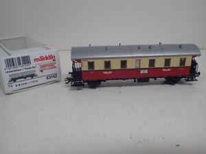 Märklin 43142 H0 Personenwagen Donnerbüchse 2.Kl. rot/beige Ep.III OVP Eurotrain