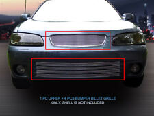 Fits 2000 2002 2003 Nissan Sentra Billet Grille Grill Combo Grill