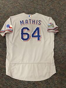 Doug Mathis Inaugural Patch Nike Texas Rangers Game Issued Jersey 2020