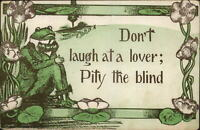 Dressed Frog Fantasy DON'T LUCH AT A LOVER Cobb Shinn c1910 Postcard