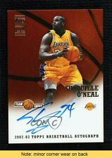 New listing 2002-03 Topps Shaquille O'Neal #TA-SO Auto HOF READ