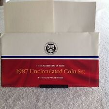 1987 U.S. uncirculated mint coin set 12pc.