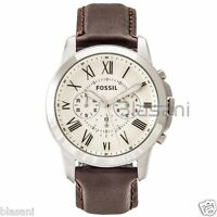 Fossil Original FS4735 Men's Grant Brown Leather Watch 44mm