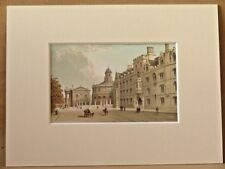 BROAD STREET OXFORD VERY RARE SUPERB QUALITY ANTIQUE MOUNTED CHROMO PRINT 1889