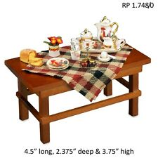 Country Breakfast Table Dollhouse Miniature 1:12 Scale REUTTER PORCELAIN