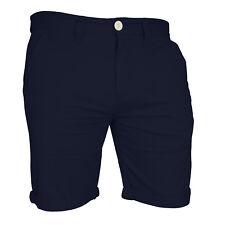Mens Chino Shorts Casual Cargo Combat Flat Front 100% Cotton Half Pant