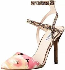 High (3 in. to 4.5 in.) Satin Floral Heels for Women