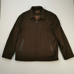 Bossini LONDON Jacket BROWN CASHMERE AND WOOL SIZE L